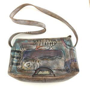 Jane Too Art Boho Abstract Painted purse bag